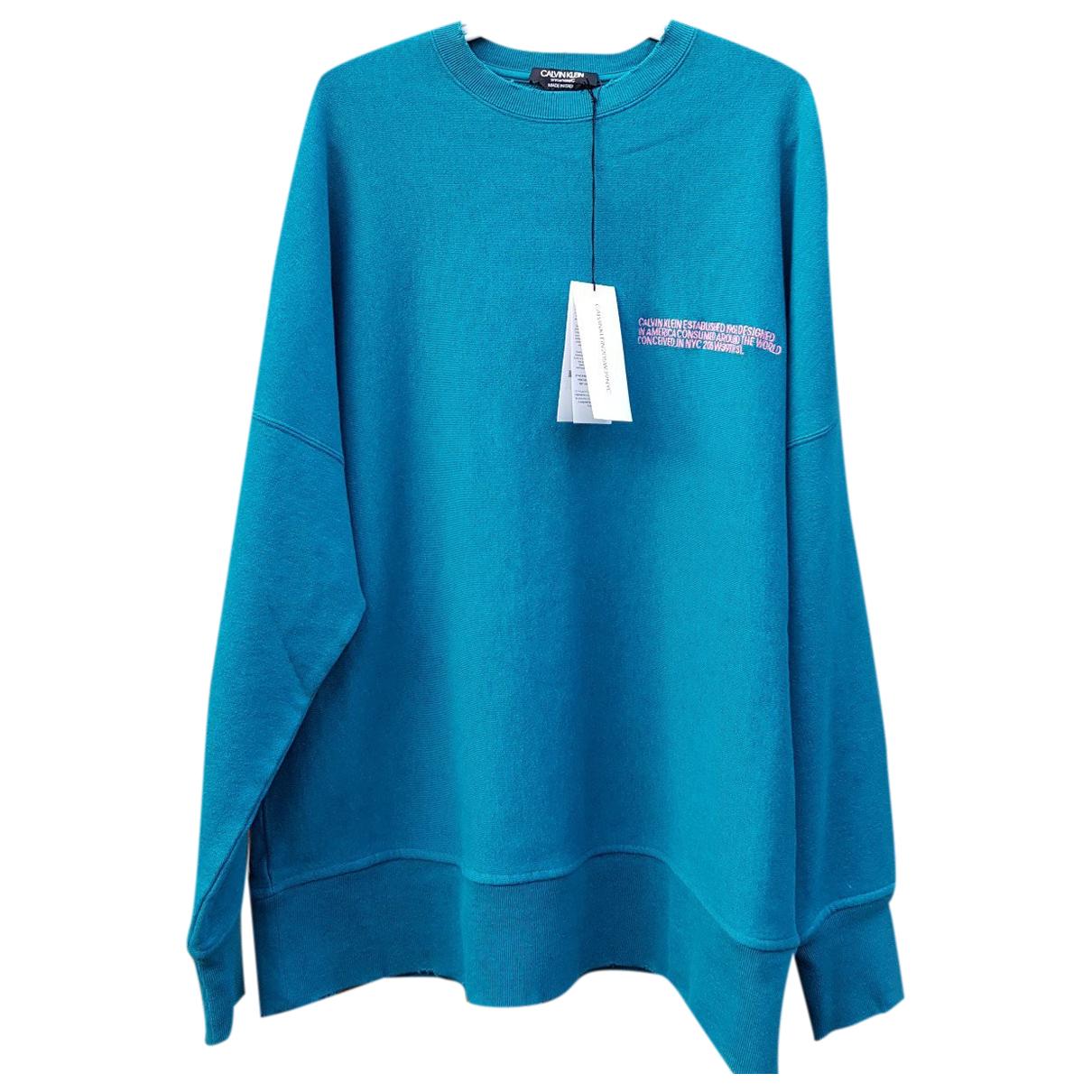 Calvin Klein 205w39nyc - Pull   pour femme en coton - bleu