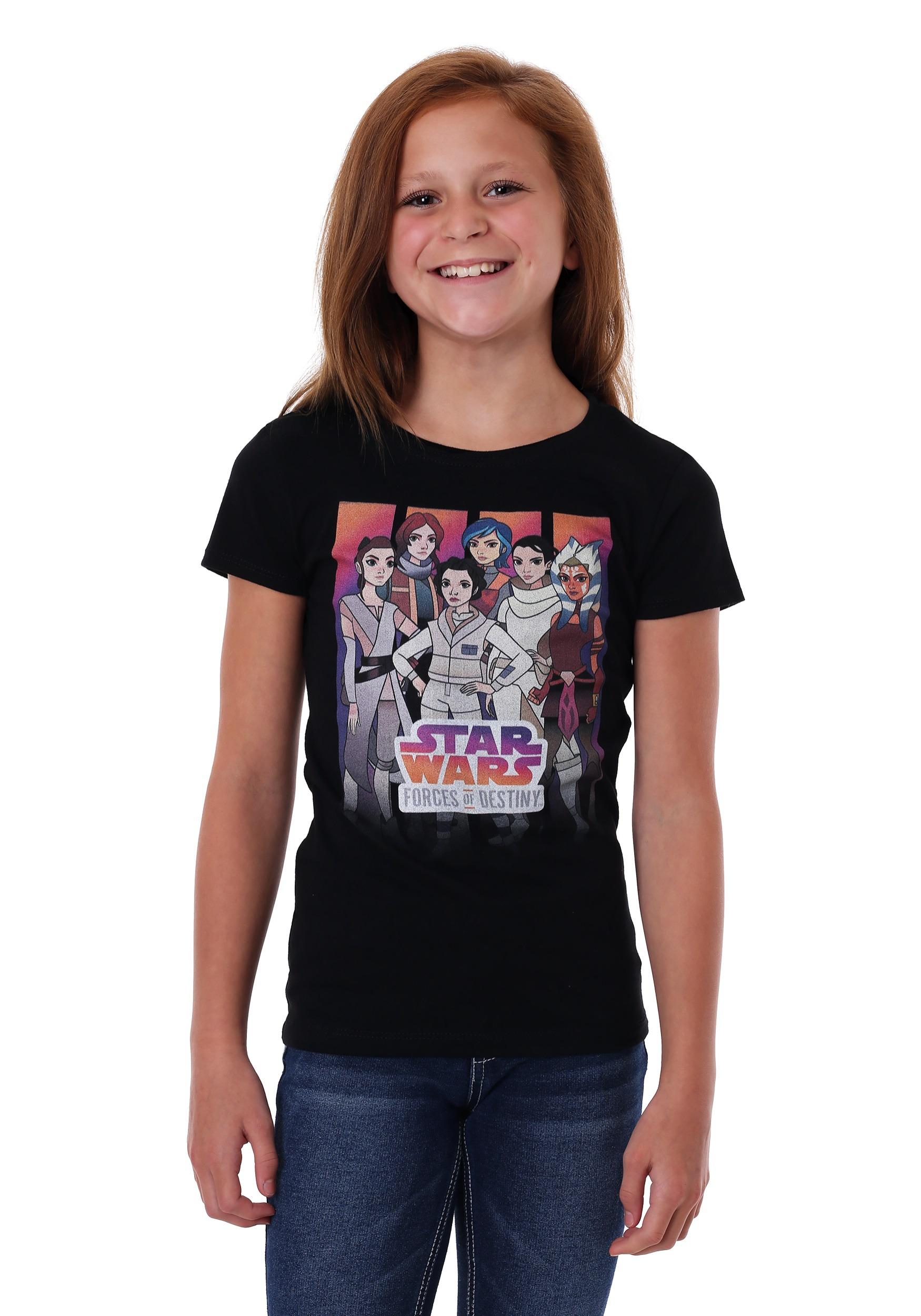 Girl's Star Wars Forces of Destiny Group Shot T-Shirt