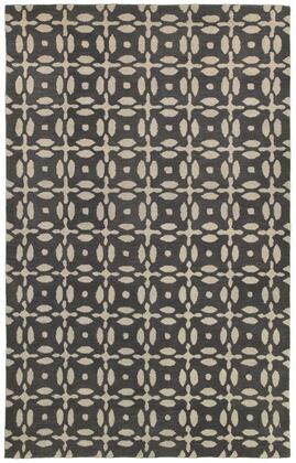 OPUOP823100330508 Opus OP8231-5' x 8' Hand-Tufted 100% Wool Rug in Gray  Rectangle