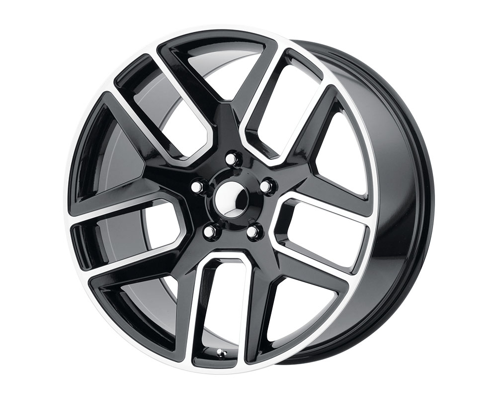 OE Creations 192BM-2218525 PR192 Wheel 22x10 5x5x139.7 +25mm Gloss Black Machined