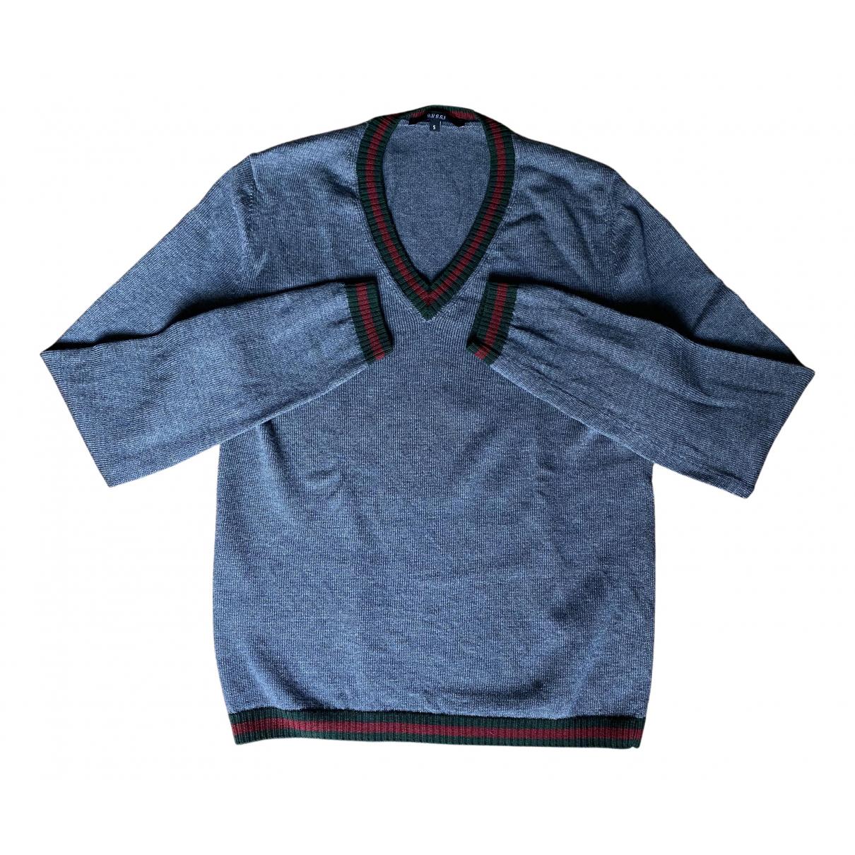 Gucci - Pulls.Gilets.Sweats   pour homme en coton - gris