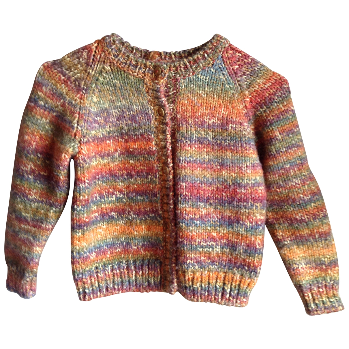 - Pull   pour enfant en laine - multicolore