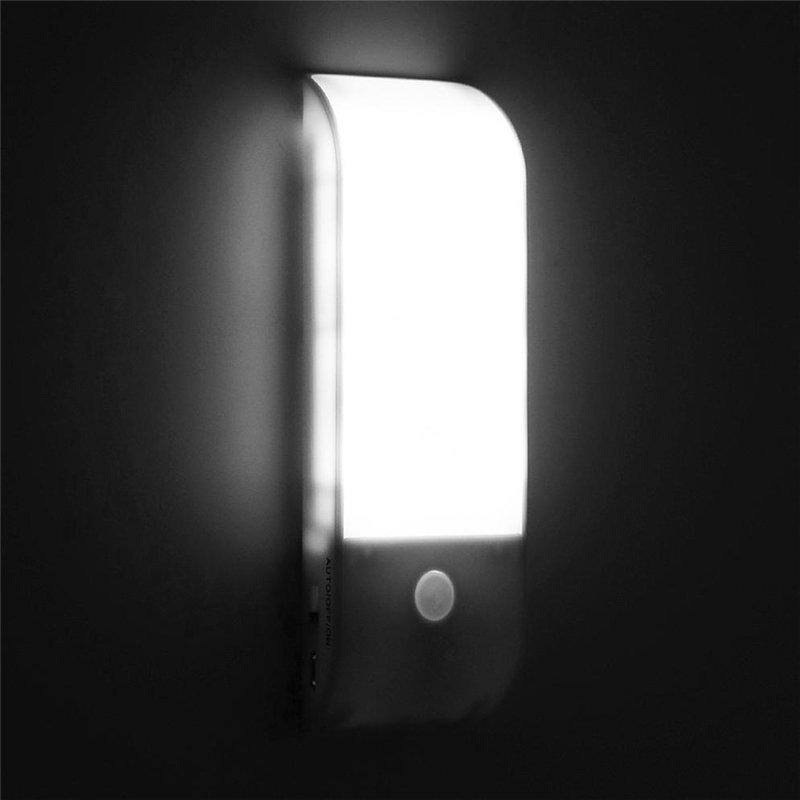 12 LED USB Rechargeable Kitchen PIR Motion Sensor LED Light Bedroom Portable Wireless Wall Lamp