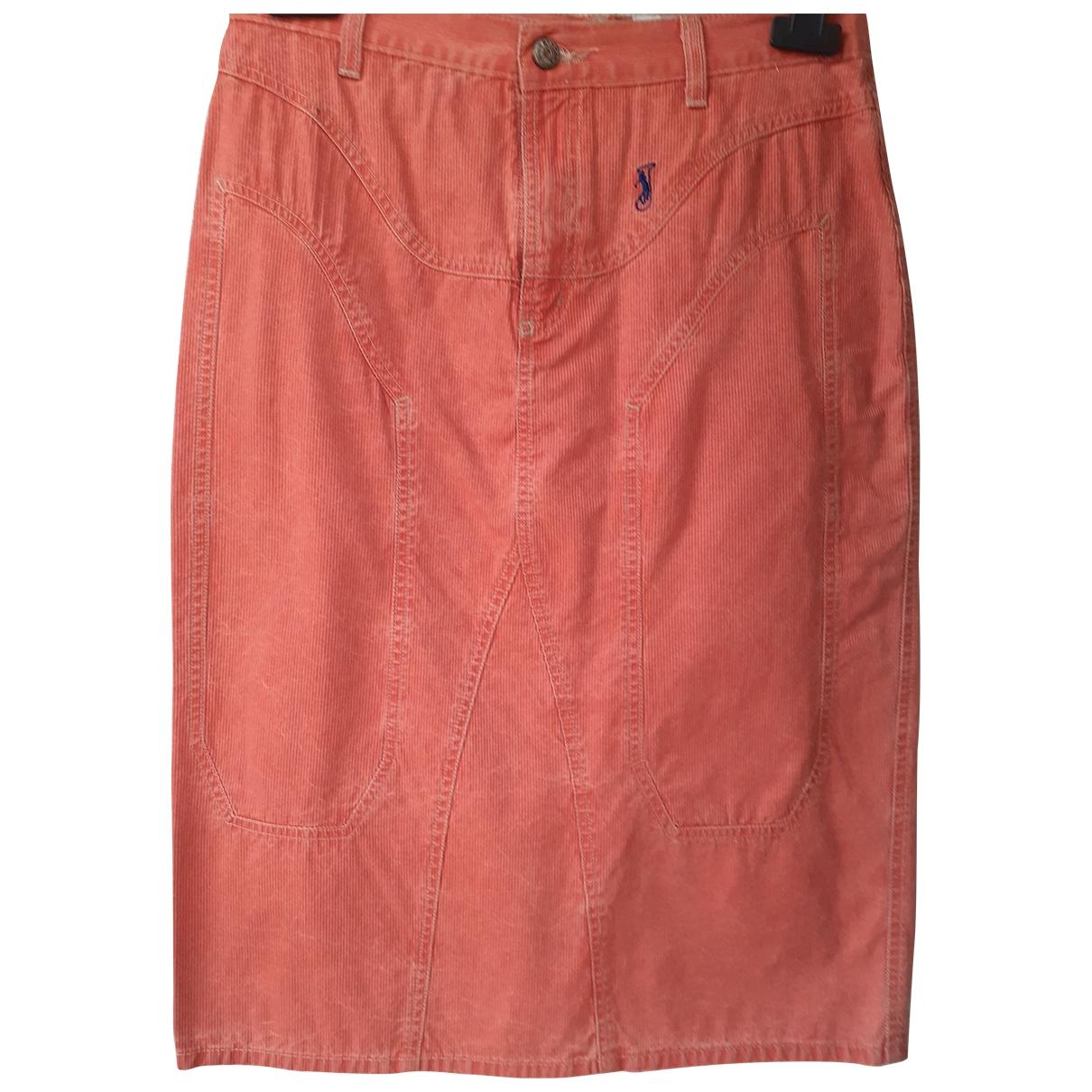 - Jupe   pour femme en coton - orange