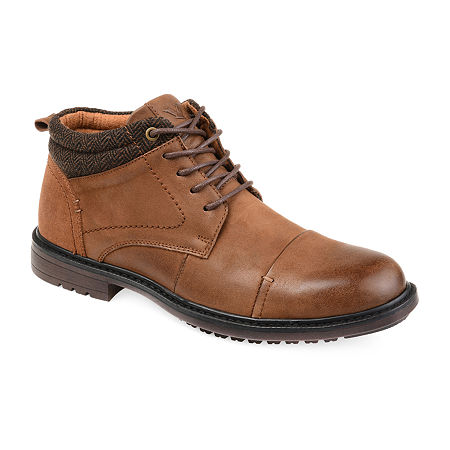 Vance Co Mens Draven Chukka Boots Block Heel, 8 1/2 Medium, Brown