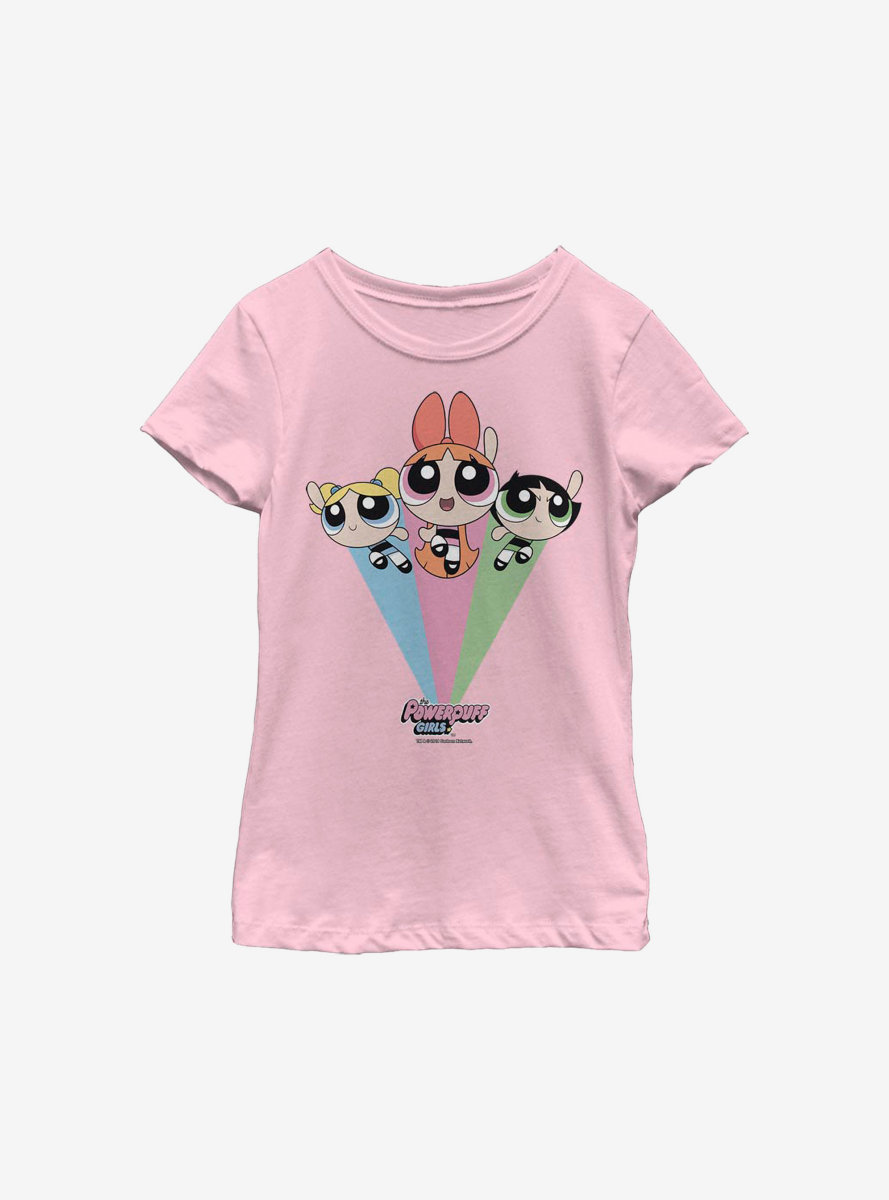 The Powerpuff Girls Trio Flying Youth Girls T-Shirt