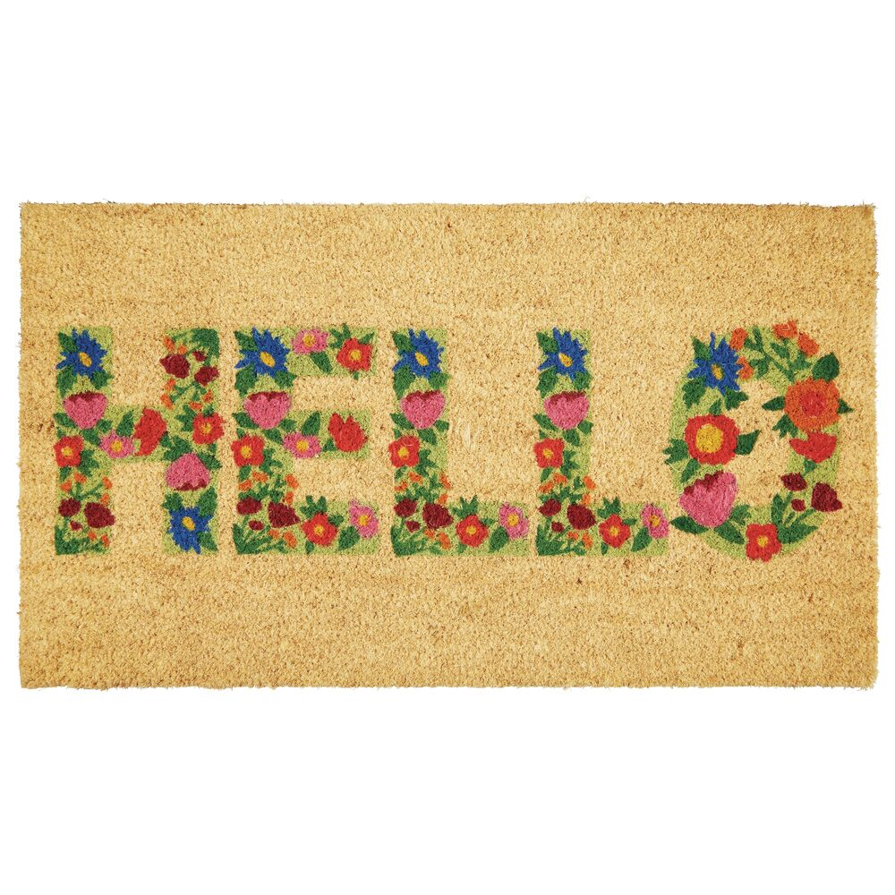Coir Entryway Indoor, Outdoor Doormat, in Tan/Multi Color, 17