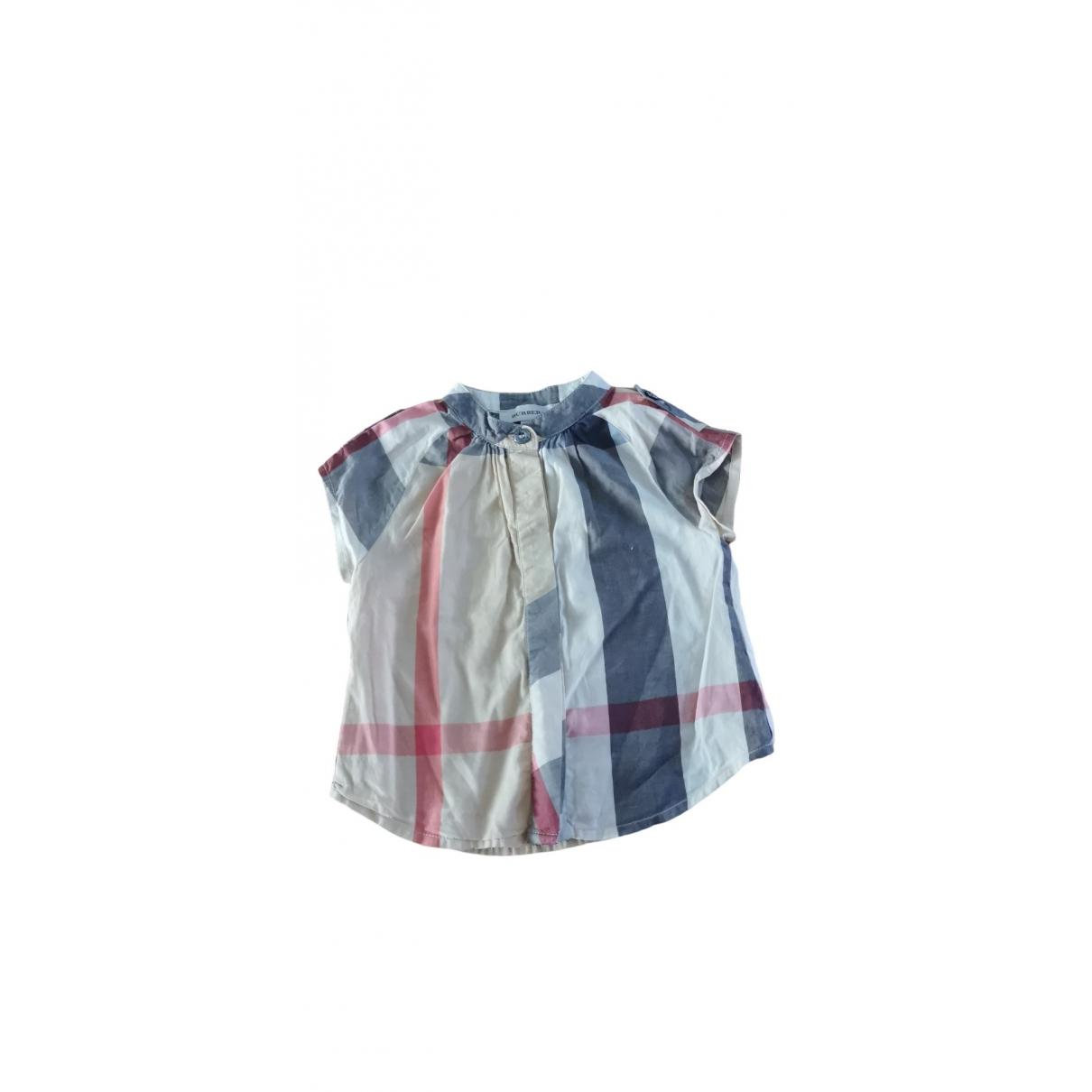 Burberry - Top   pour enfant en coton - multicolore