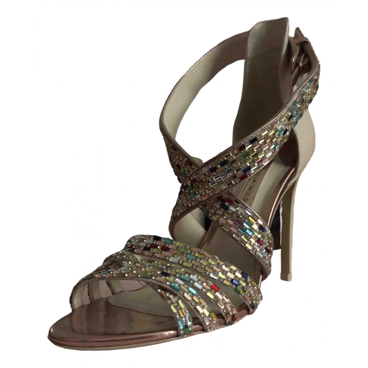 Sophia Webster \N Metallic Leather Sandals for Women 38.5 EU