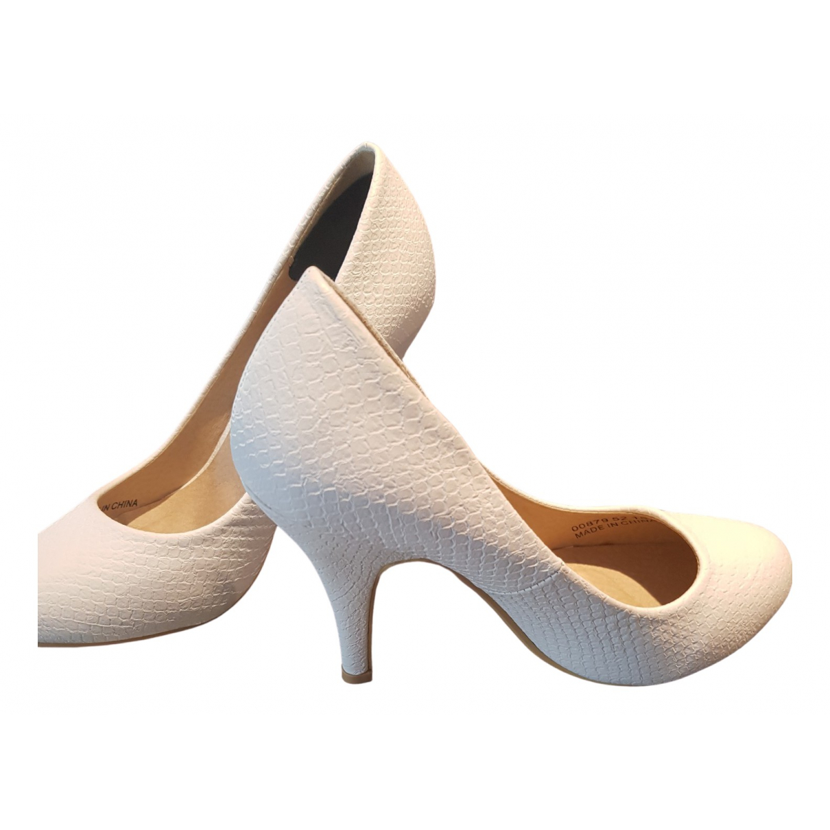 Non Signé / Unsigned \N White Leather Heels for Women 36 EU