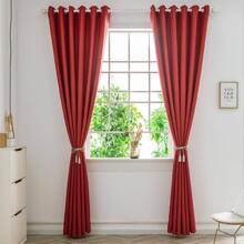 1pc Solid Blackout Eyelet Curtain