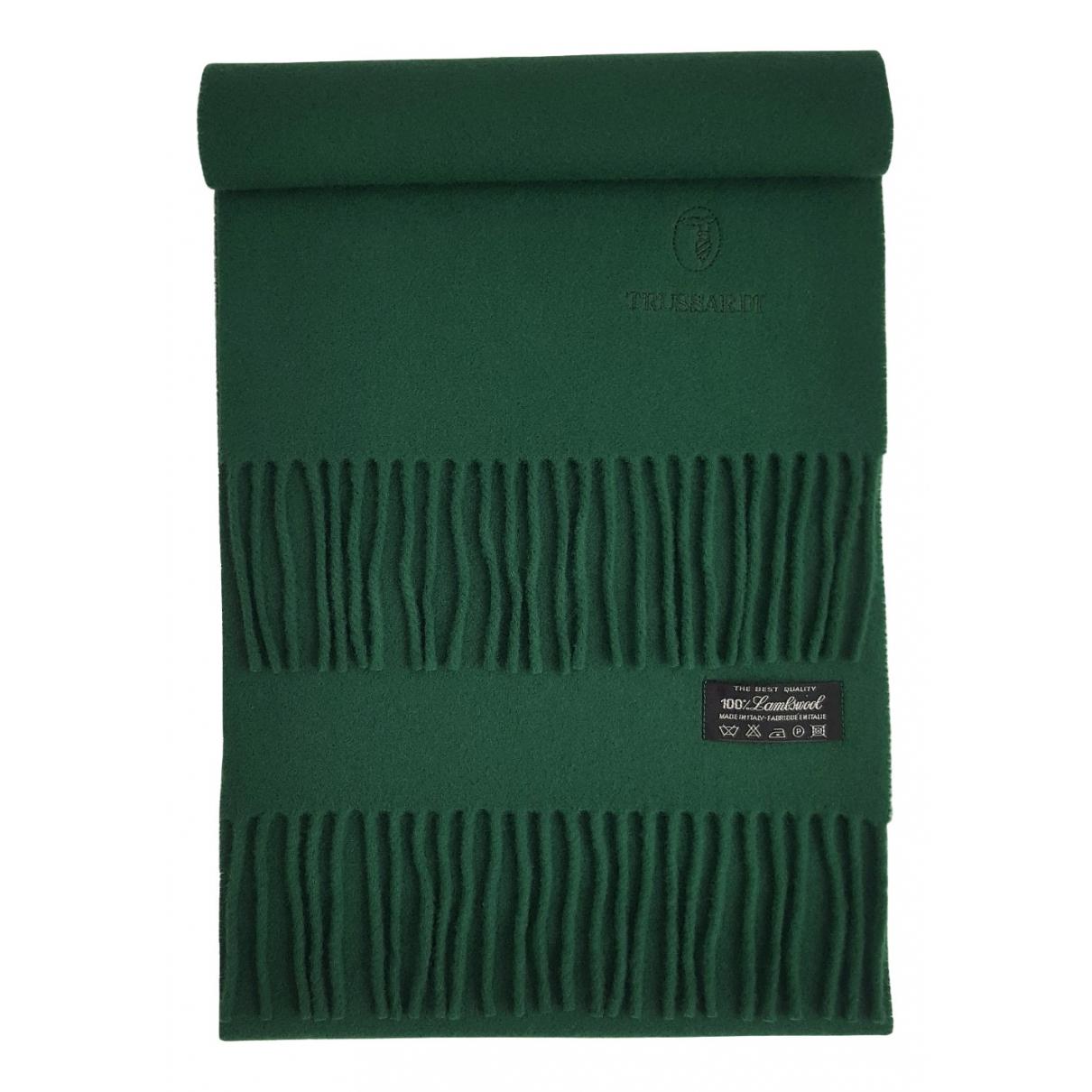 Trussardi N Green Wool scarf & pocket squares for Men N
