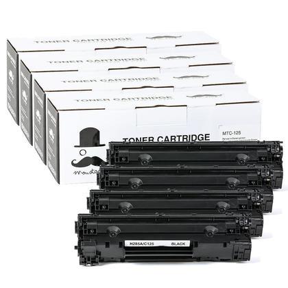 Compatible Canon 125 Black Toner Cartridge (3484B001AA) - Moustache - 4/Pack