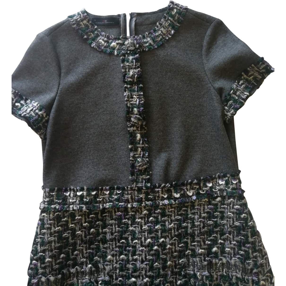 Carolina Herrera \N Grey Wool dress for Women 12 US