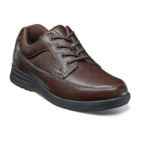 Nunn Bush Mens Cam Moc Toe Casual Oxford Shoes, 9 1/2 Wide, Brown