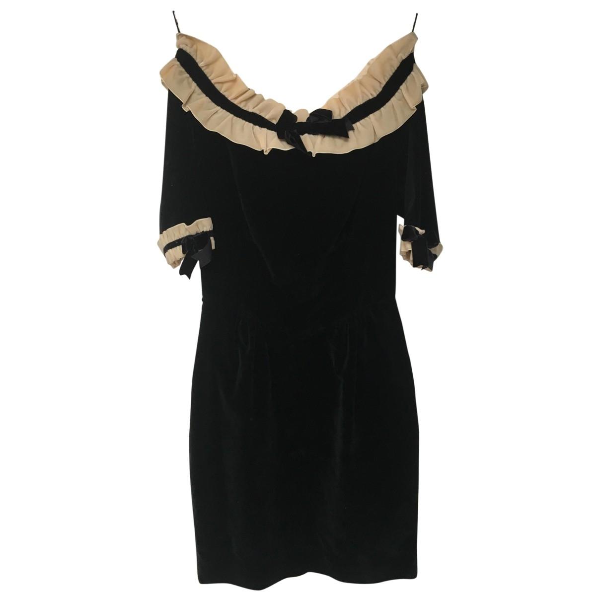 Moschino Cheap And Chic \N Black Velvet dress for Women 38 FR