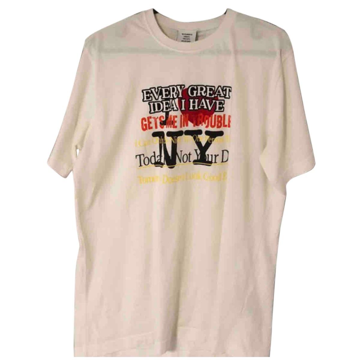 Vetements \N T-Shirts in  Weiss Baumwolle