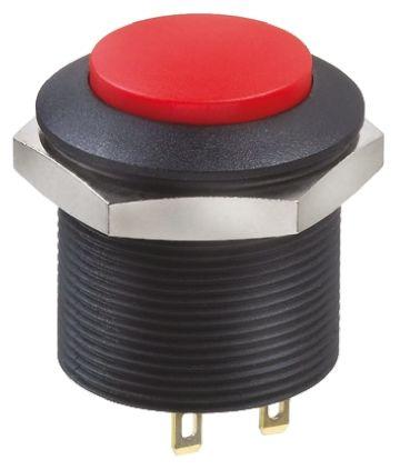 Apem Double Pole Double Throw (DPDT) Push Button Switch, Panel Mount, 12V dc