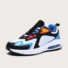 Zapatillas deportivas de hombres de color combinado con cordon delantero