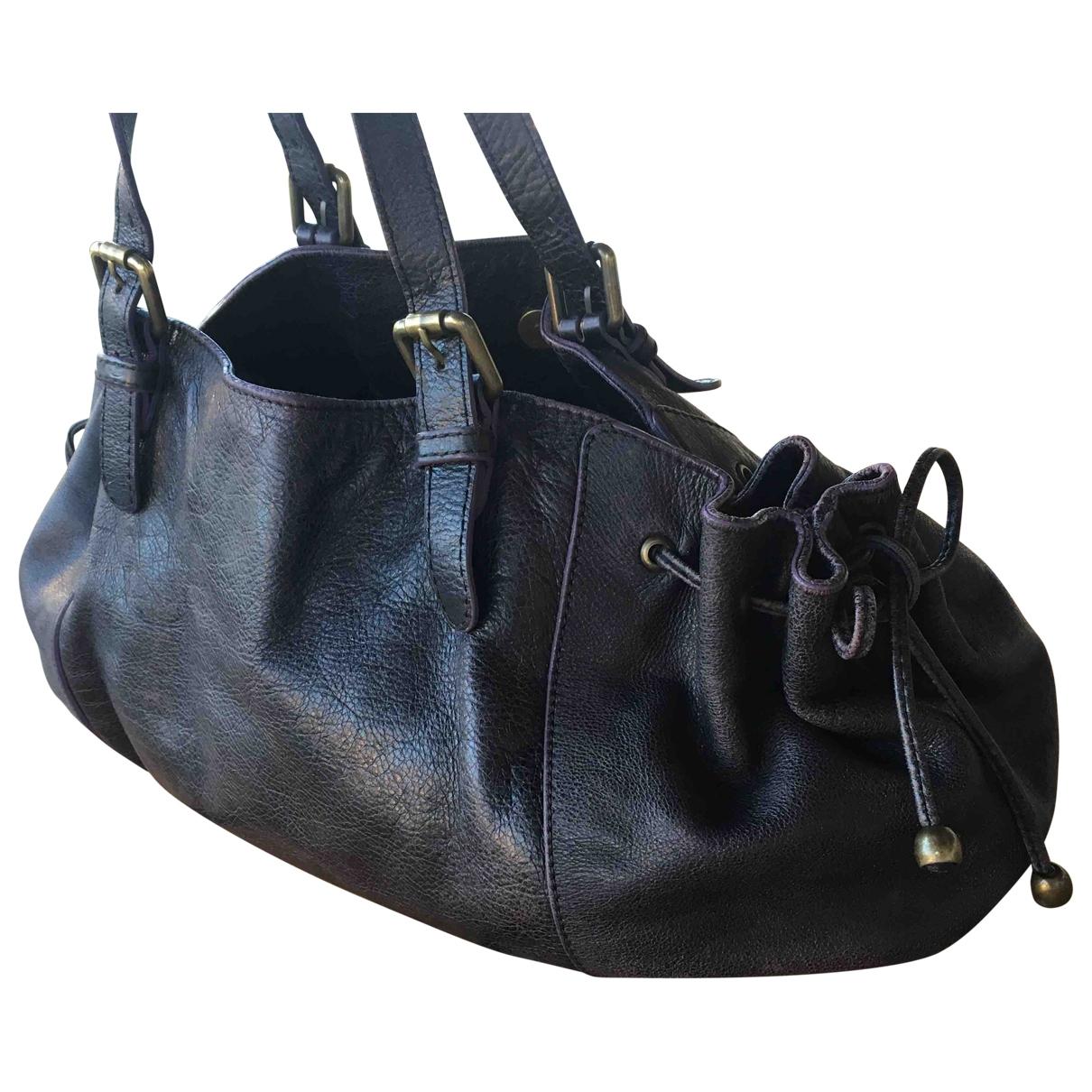 Gerard Darel 24h Black Leather handbag for Women \N