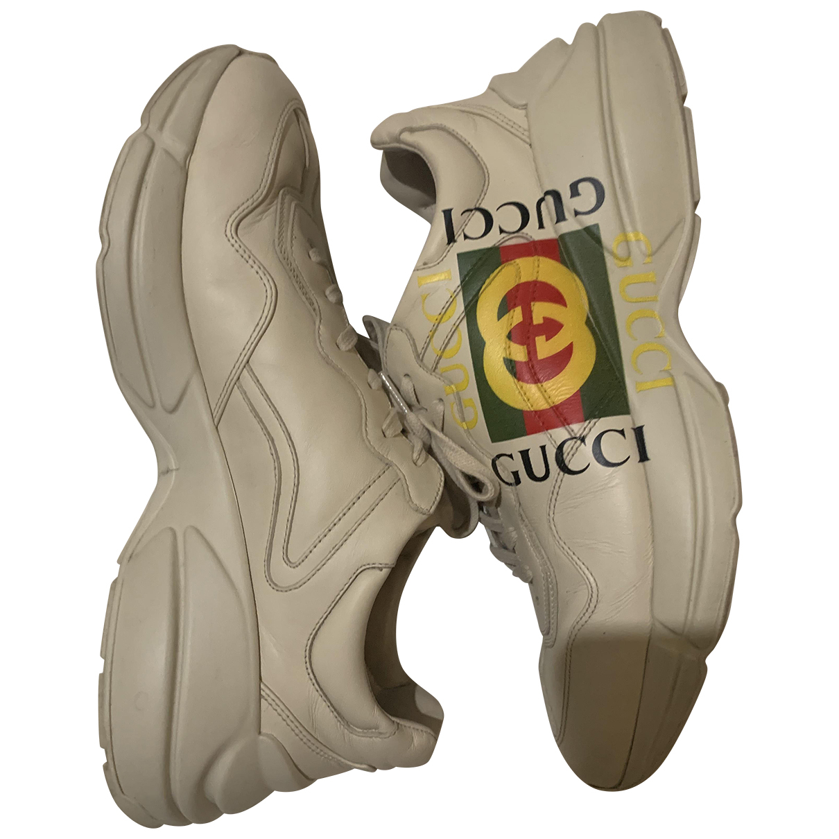 Gucci Rhyton Sneakers in Leder