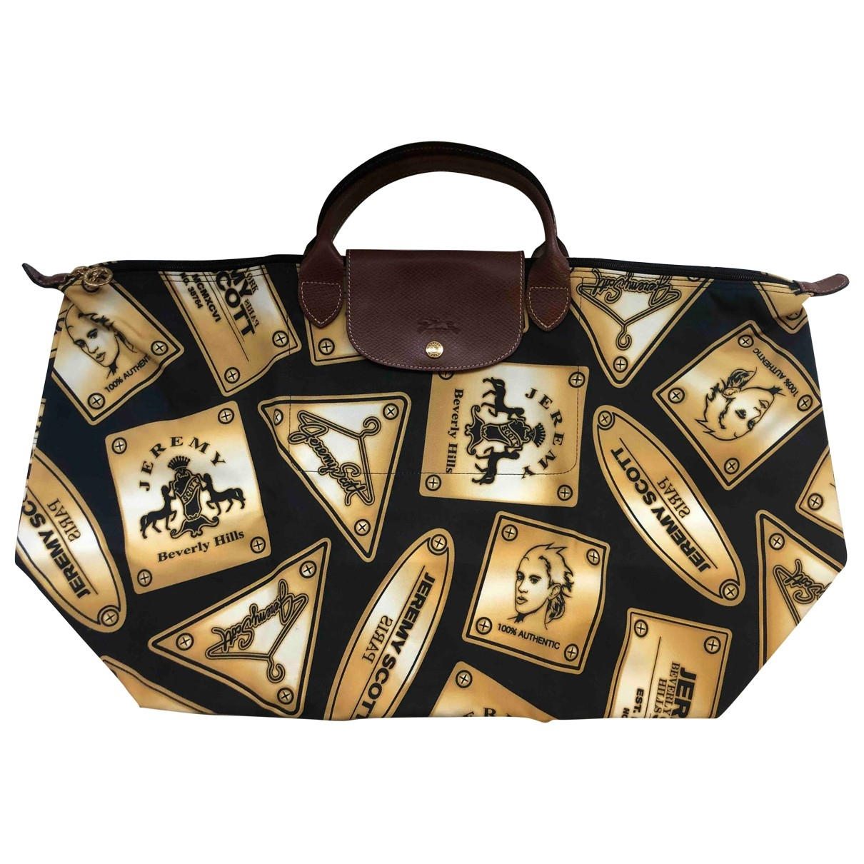 Longchamp - Sac de voyage   pour femme en coton - multicolore