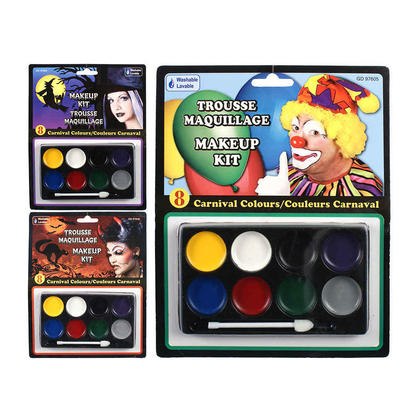 Halloween Makeup Kit 8 Carnival Colors Washable with Applicator