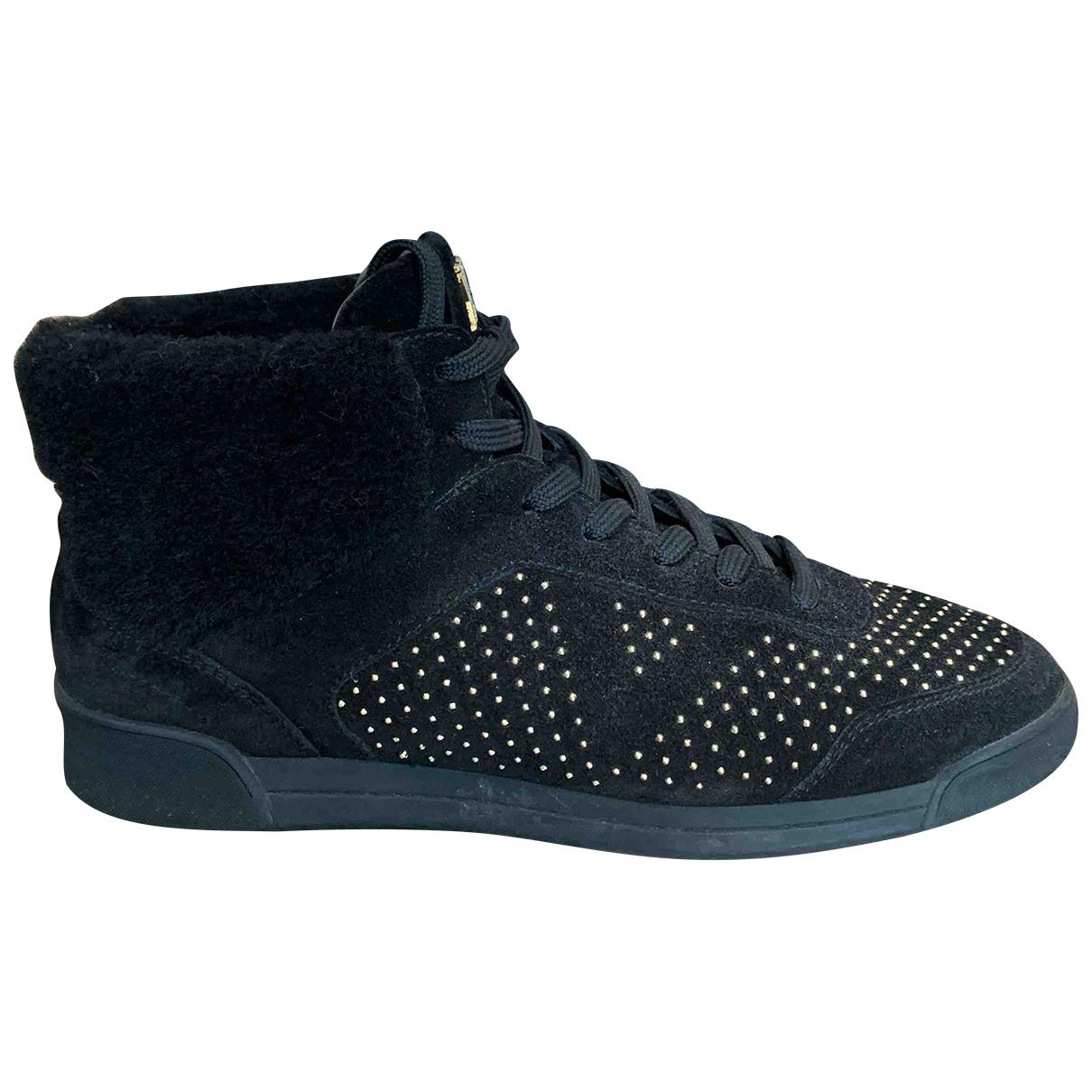 Louis Vuitton - Baskets   pour femme en suede - noir