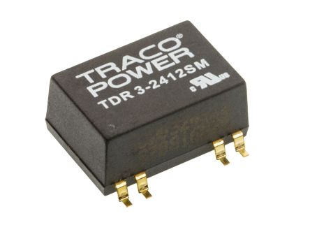 TRACOPOWER TDR 3SM 3W Isolated DC-DC Converter Surface Mount, Voltage in 18 → 36 V dc, Voltage out 12V dc