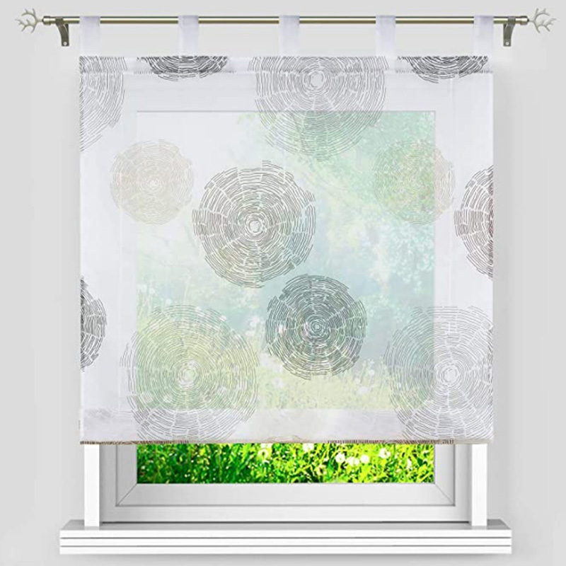 Modern Breathable Decorative Roman Sheer Shades for Cabinet and Kitchen Window
