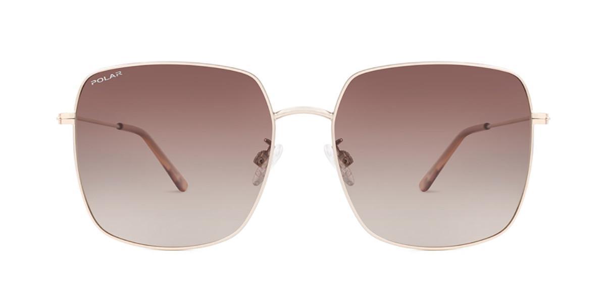 Polar PL Camille Polarized 02/r Men's Sunglasses Gold Size 59