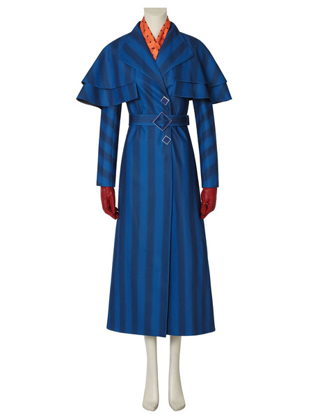 Milanoo Mary Poppins 2020 Movie Halloween Cosplay Costume