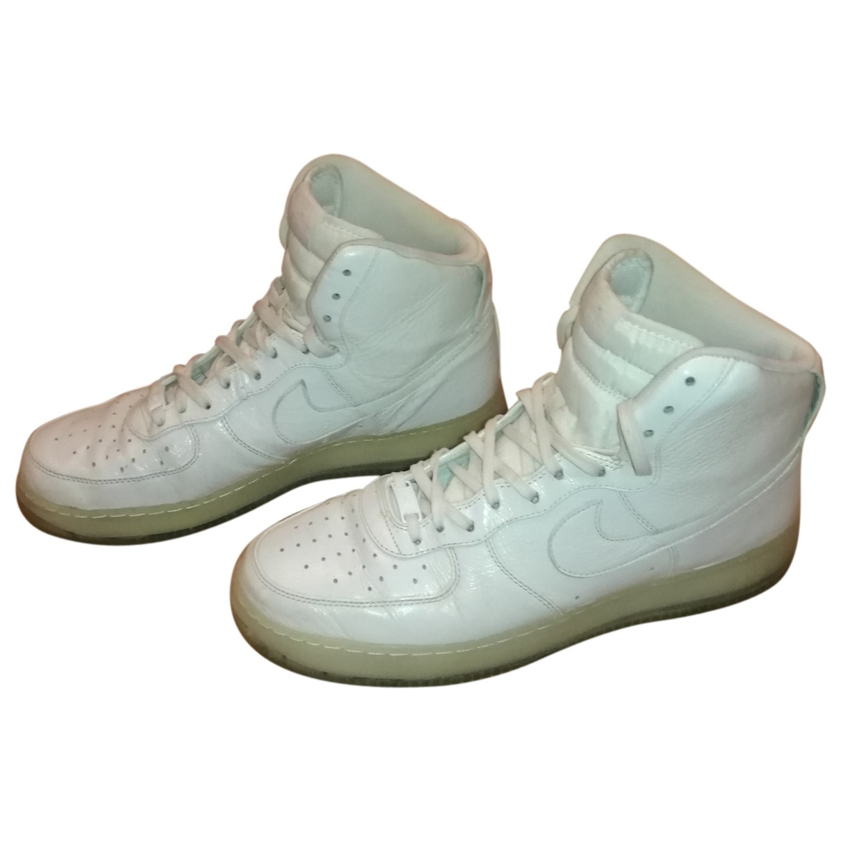 Nike Air Force 1 White Leather Trainers for Men 46 EU