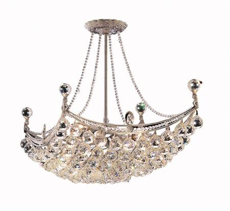 V9800D28C/RC 9800 Corona Collection Chandelier L:28 In W:16In H:20In Lt:8 Chrome Finish (Royal Cut