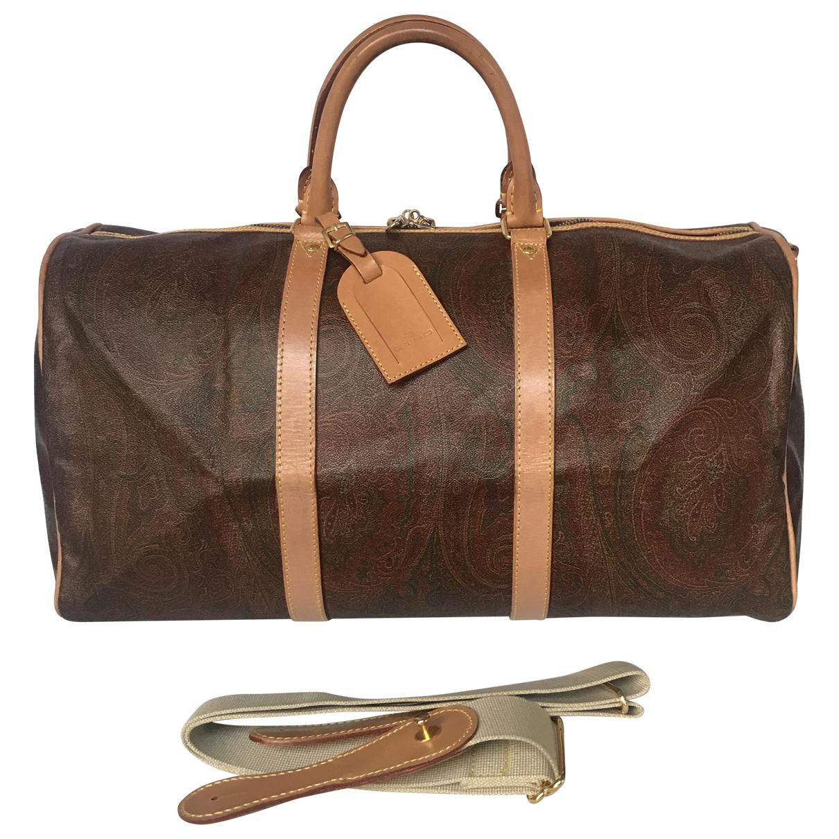 Etro - Sac de voyage   pour femme en cuir - marron