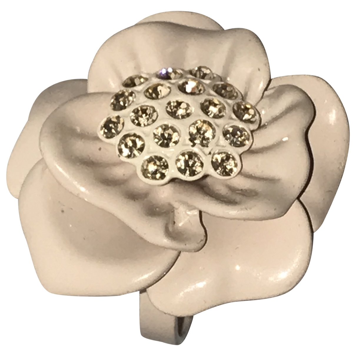 - Bague Motifs Floraux pour femme en cristal - rose