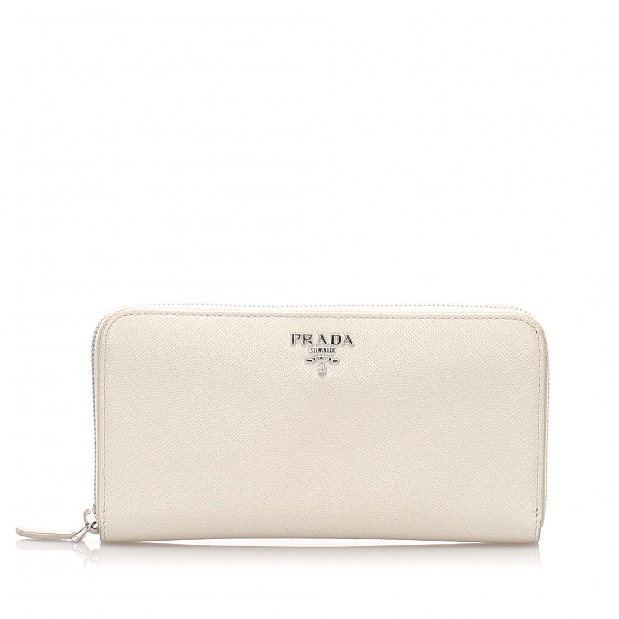 Prada \N White Leather wallet for Women \N
