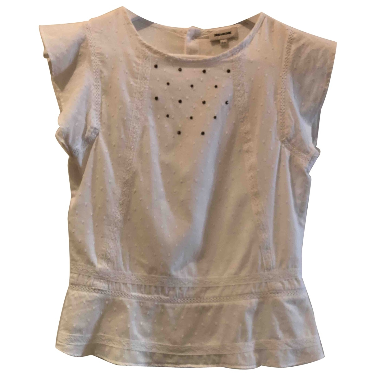 Zadig & Voltaire \N White Cotton  top for Kids 12 years - XS FR