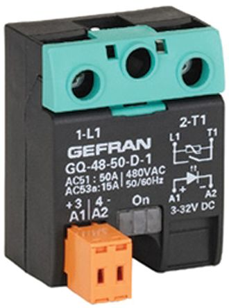 Gefran 50 A Solid State Relay, Zero Crossing, Surface Mount, SCR, 480 V ac Maximum Load