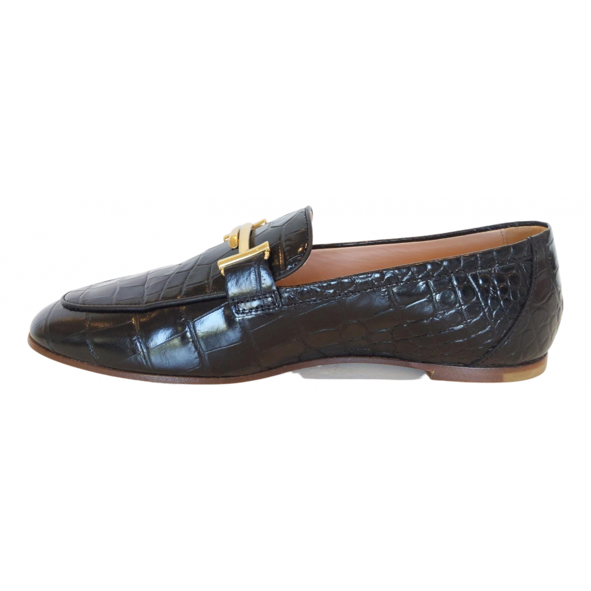 Tod's \N Black Patent leather Flats for Women 38.5 EU