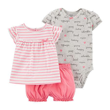 Carter's Baby Girls Short Set, 6 Months , Pink