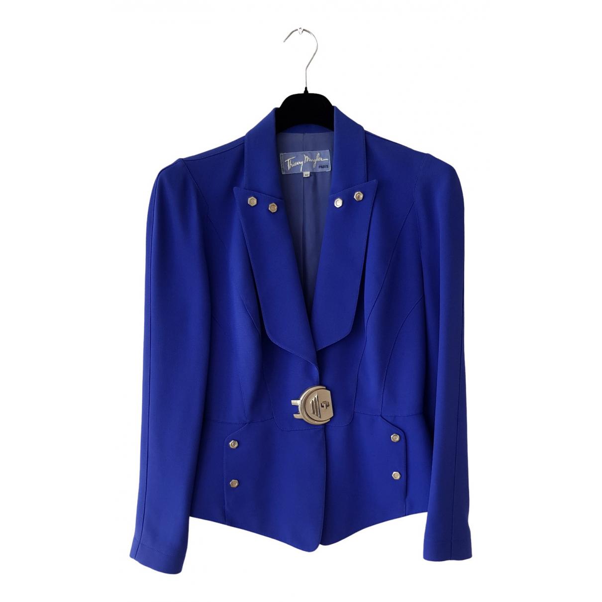Thierry Mugler \N Blue jacket for Women 42 FR