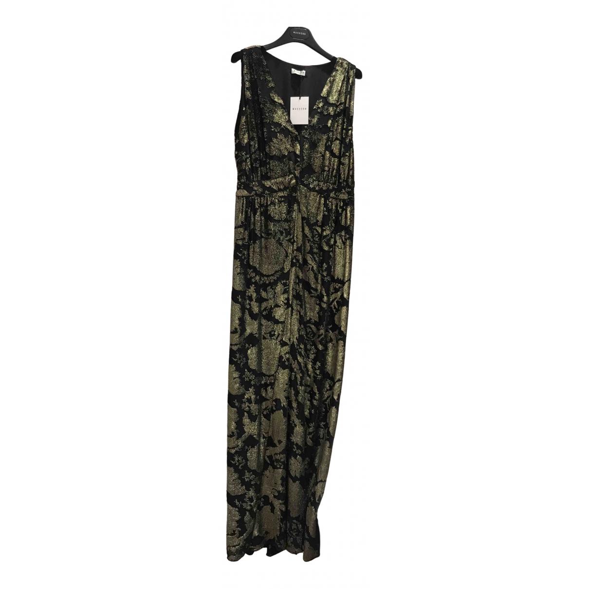 Masscob \N Kleid in  Gold Seide