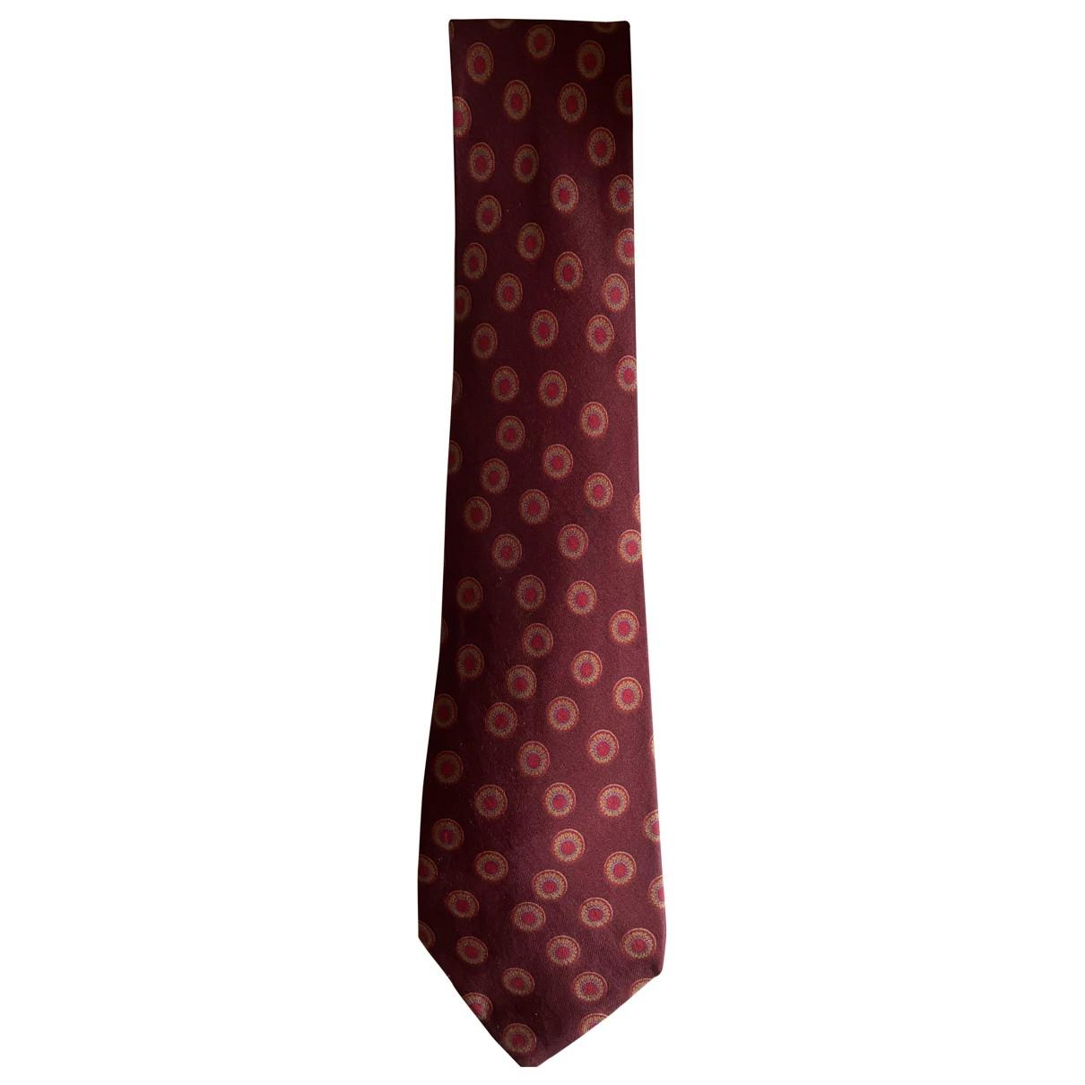 Hermes \N Krawatten in  Bordeauxrot Seide
