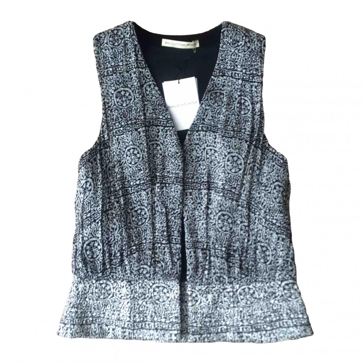 Balenciaga \N Pullover in  Schwarz Viskose