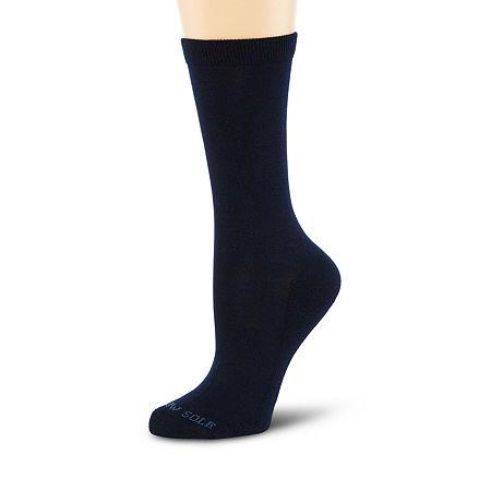 Pillowsole Crew Socks, One Size , Blue