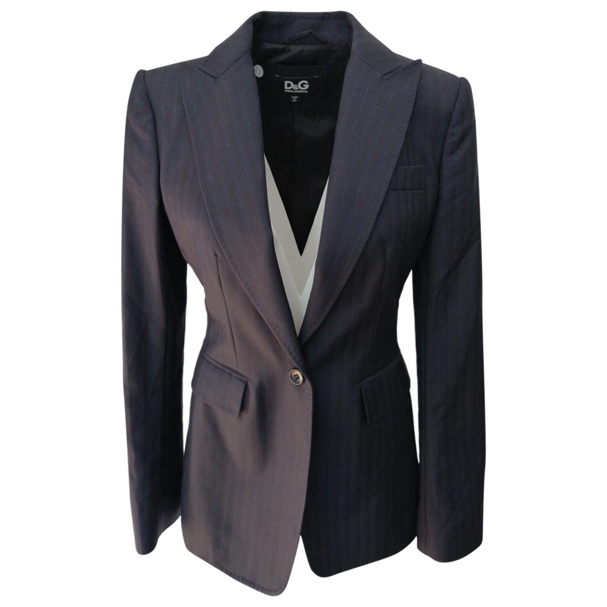 D&g - Veste   pour femme en laine - bleu