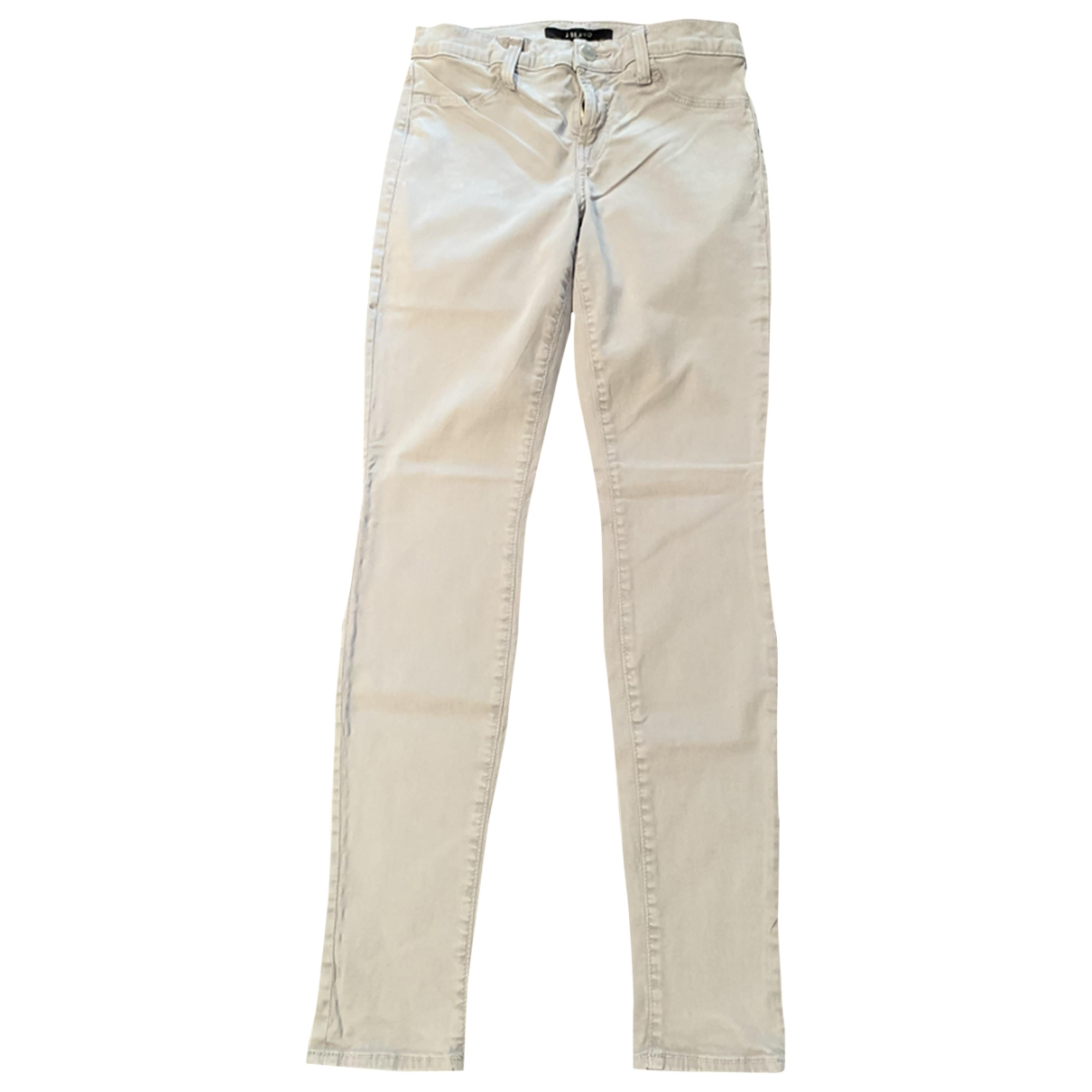 J Brand \N Grey Cotton Trousers for Women 36 FR