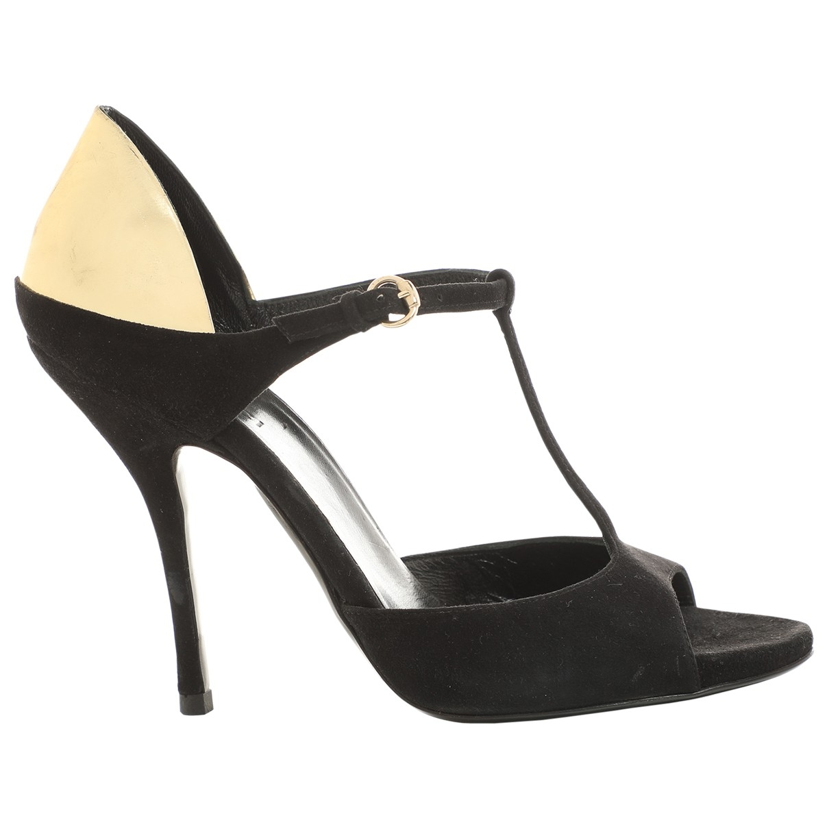 Gucci \N Black Suede Sandals for Women 36 EU
