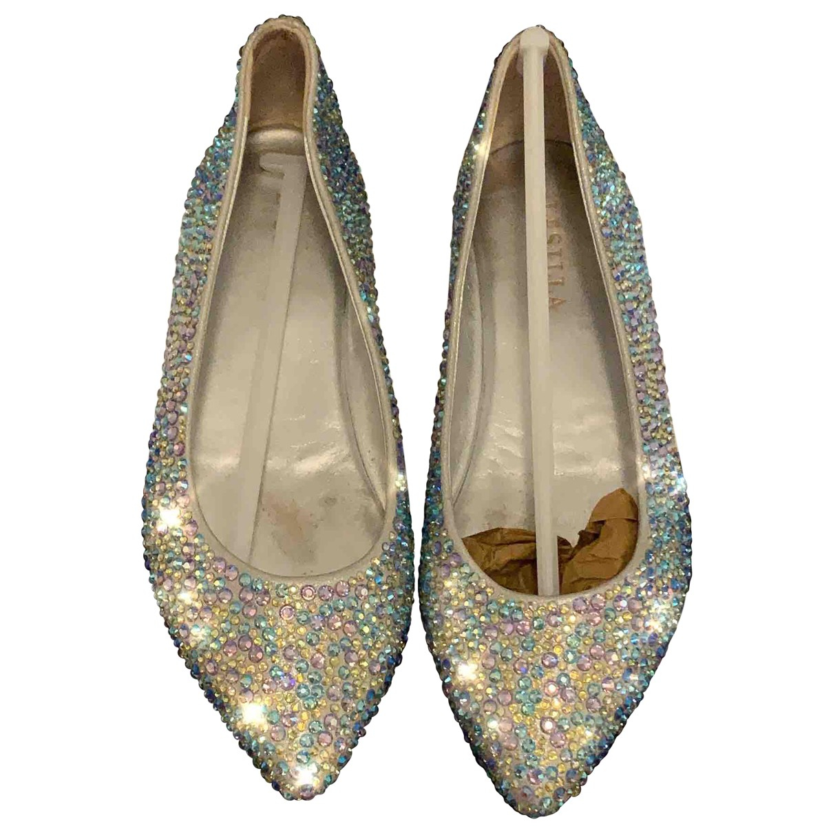 Le Silla \N Ballerinas in  Silber Mit Pailletten